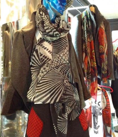 Disorder Koi Carp silk scarf