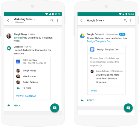 Google Hangouts Chat makes the list of alternatives to Slack