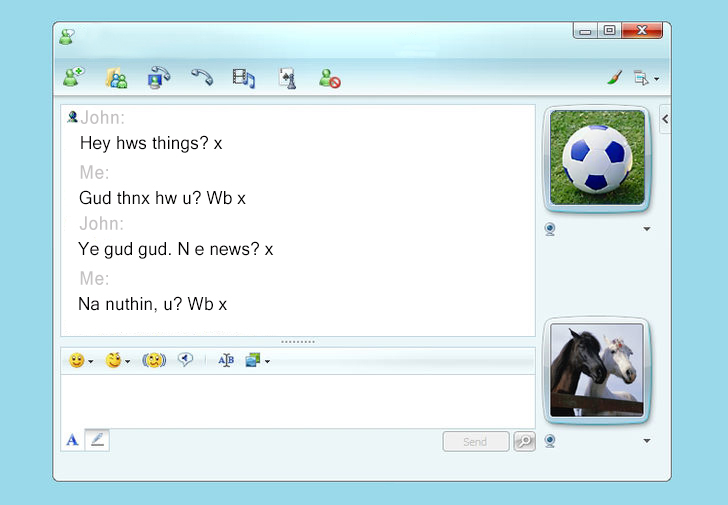 MSN Messenger was a consumer favourite with the younger generation - stock images and all!