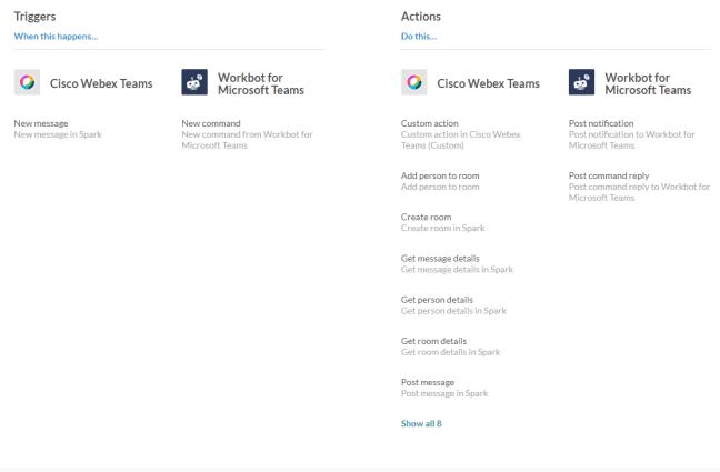 Bot integration for Microsoft Teams and Cisco Webex Teams