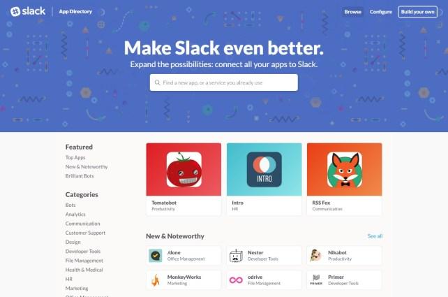 Slack app directory