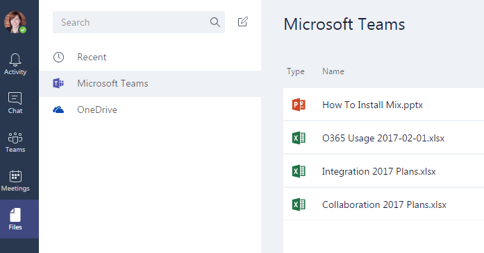 File storage is a new feature when comparing Microsoft Teams vs Skype for Business