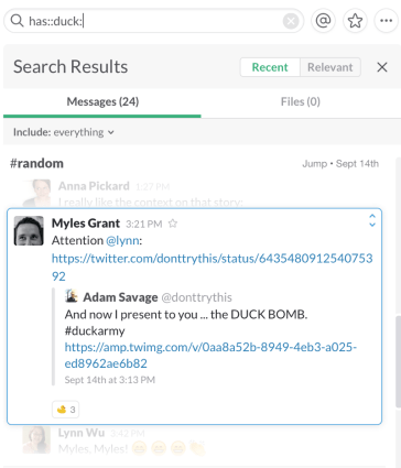 Slack search