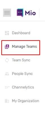 Manage Teams