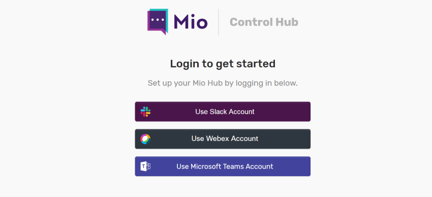 Login with primary chat platform
