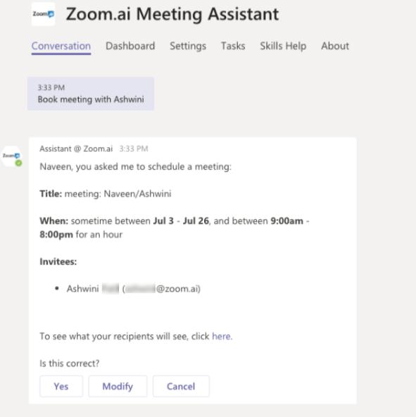 Zoom.ai Microsoft Teams bot