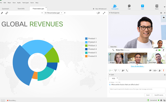 Cisco Webex Teams does a great job of including as much media and communication channels in one application.