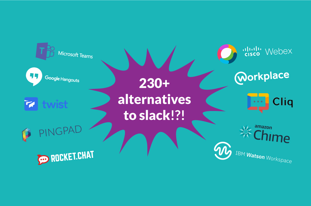 There are now 230 alternatives to Slack