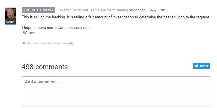 Microsoft Teams Backlog