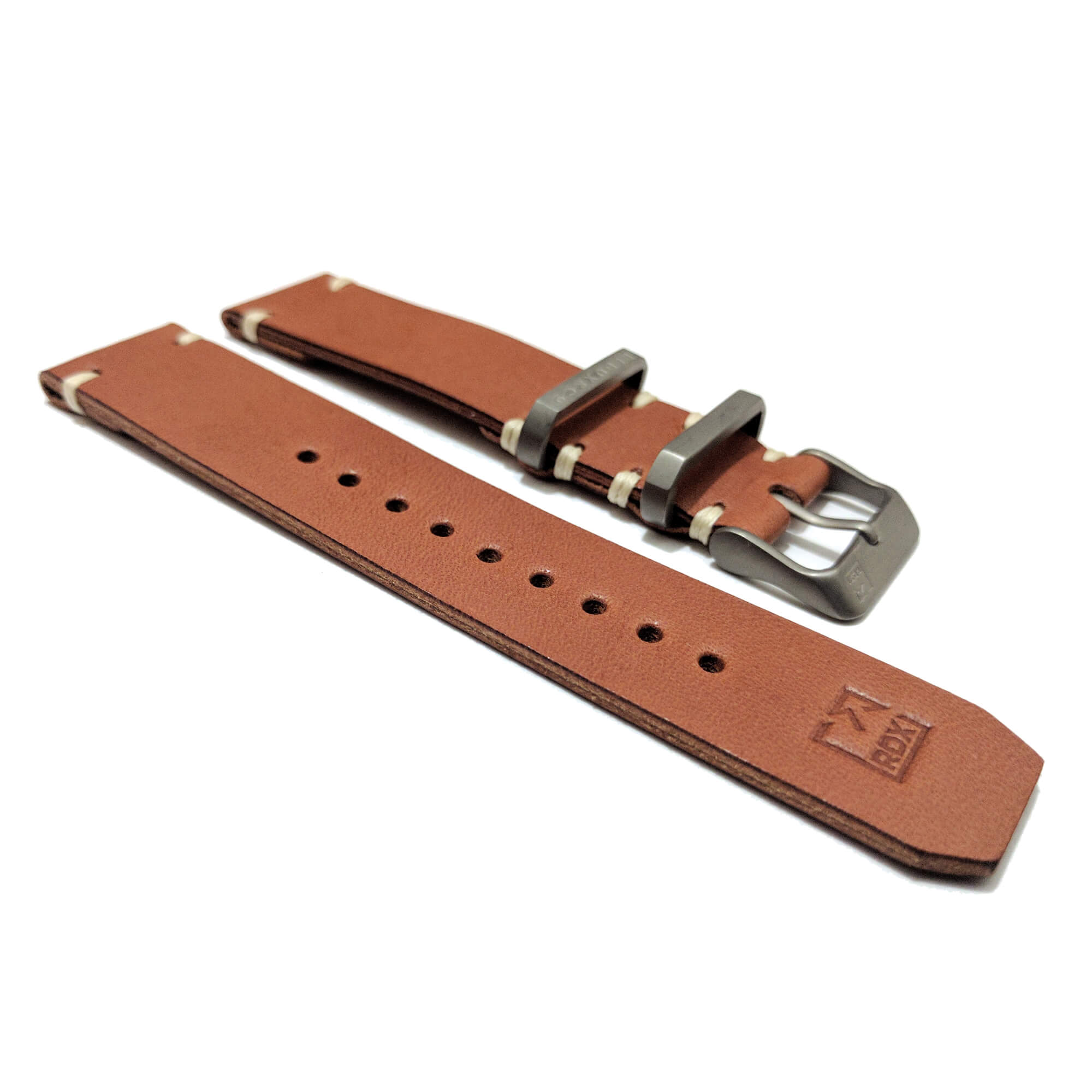 Redux Brooklyn Handcrafted Leather 2 piece strap with Titanium hardware