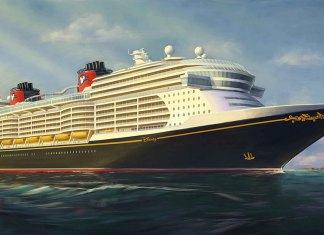 Artist rendering of new Disney Cruise Line ship.