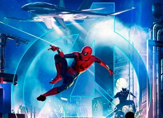 Cropped Marvel Disneyland poster
