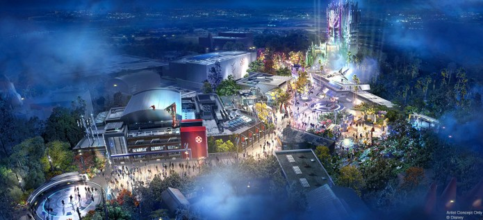 Avengers Campus at California Adventure concept art