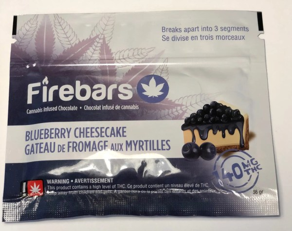Fire Bars- Blueberry Cheesecake (140 MG THC)