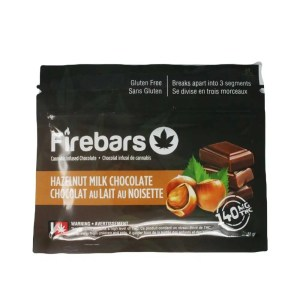 Fire Bars- Hazelnut milk chocolate (140 MG THC)