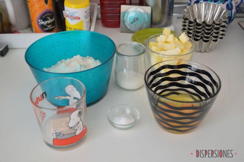 Ingredientes para brioche casero listos