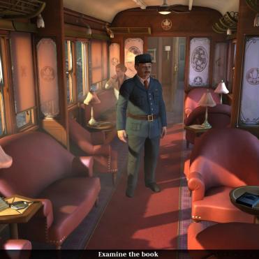 En el principio del juego, vas en un bonico tren dando la tabarra a los pasajeros