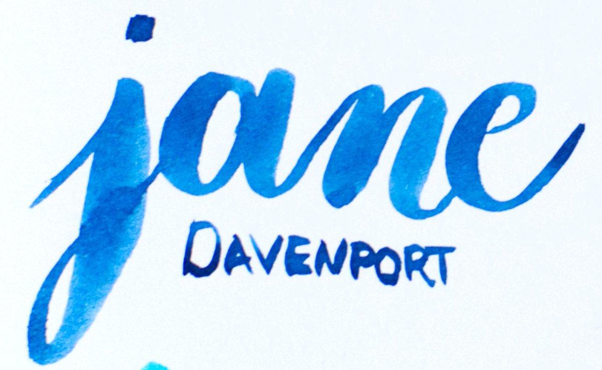 Rotuladores de punta de pincel: Jane Davenport