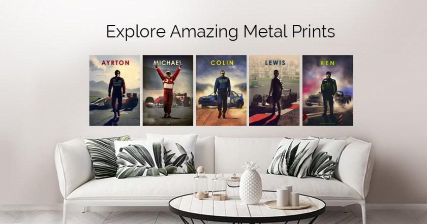 Racing Drivers Legends by Eden Design | metal posters