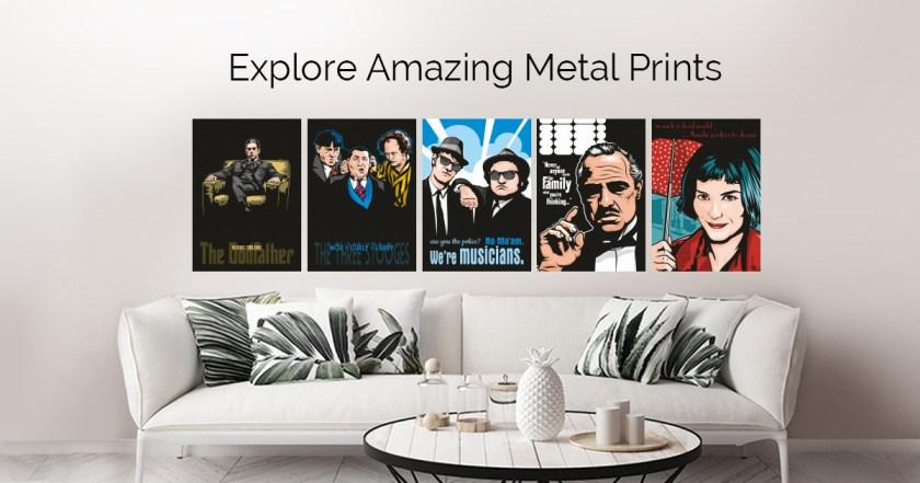 Movie Icons by Jamie Lee   metal posters