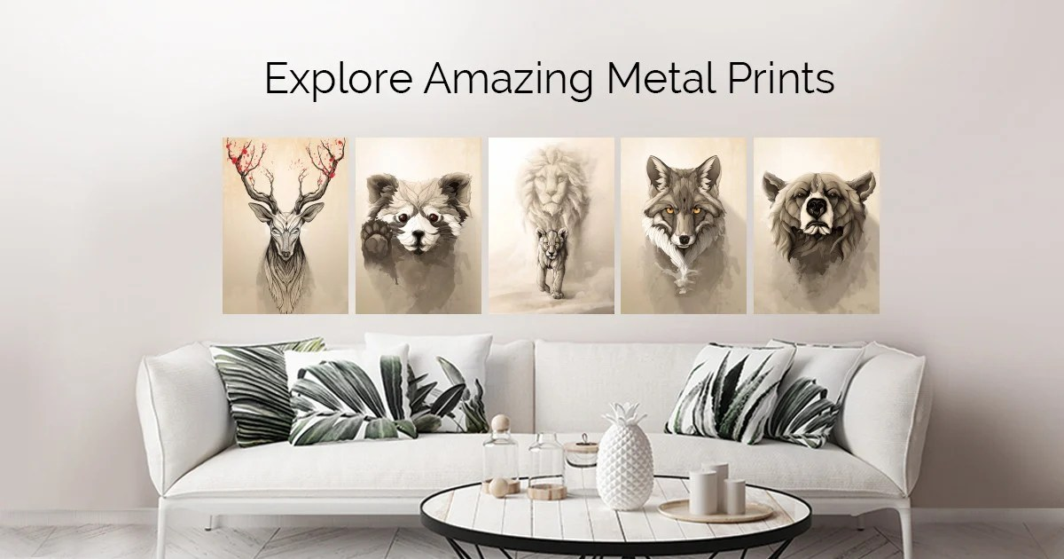 Wild animals by Rafapasta CG | metal posters