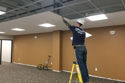 Retail Constructions - Ceiling Tile Installation