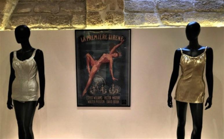 Exposition Pin-Up maillot de bain DeWeeze lurex argenté Cole of California lurex doré Esther Williams