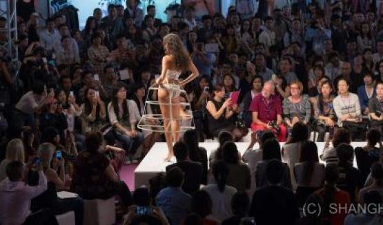 Shanghai Mode Lingerie Fashion Show Crinoline Bustier 1950