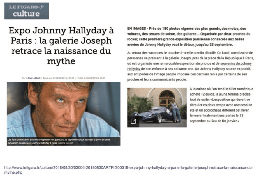 Exposition Johnny Le Figaro