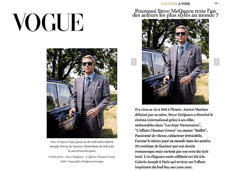 Steve McQueen Vogue