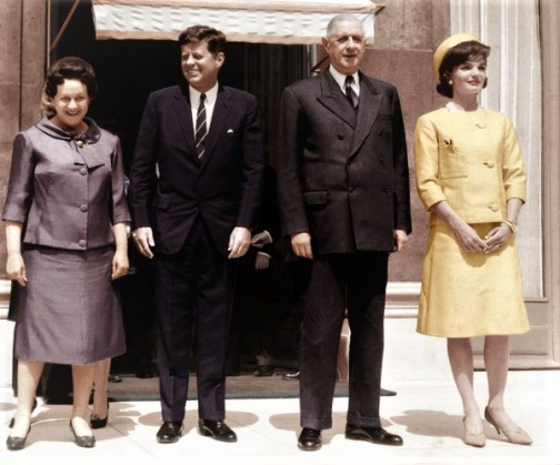 John Kennedy Elysee 1961 Jackie Charles De Gaulle Yvonne