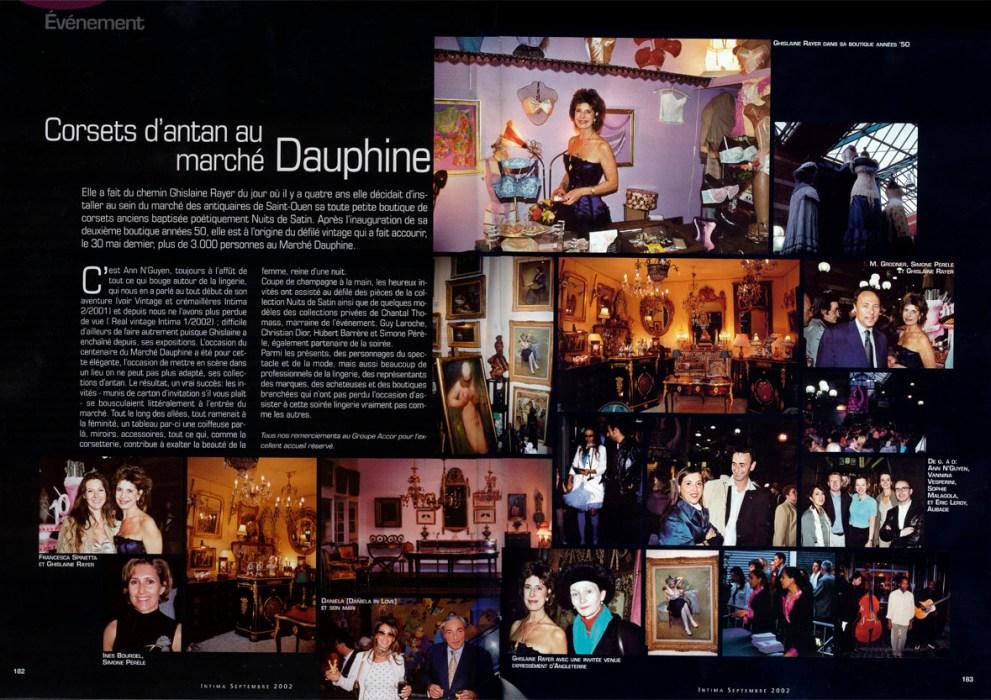 Magazine Intima corsets marché dauphine