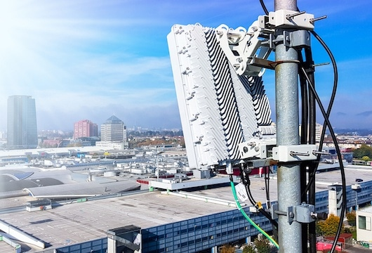 5G towers and base station