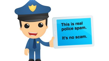 What happens when real police spam looks more like a scam?