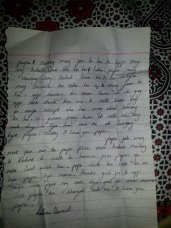 The Letter Written by Fatima, 15 before the incident to his family.