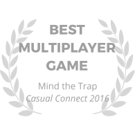 award-wreath_mind-the-trap_best-multiplayer-game_gray