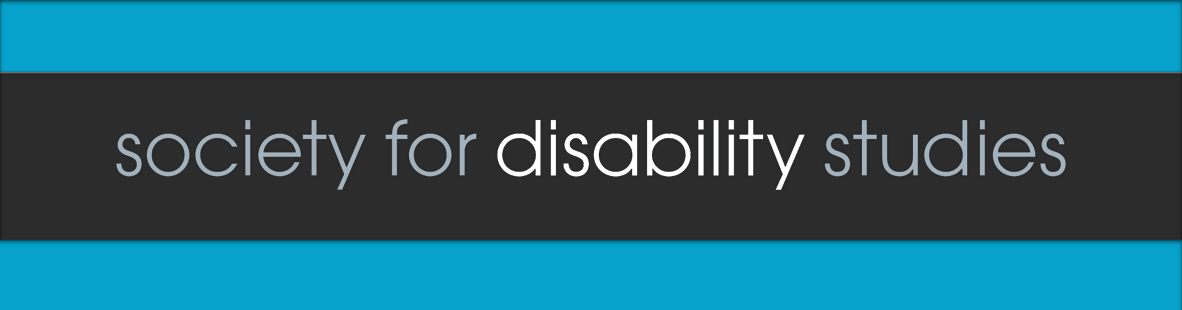 Banner- Society for Disability studies