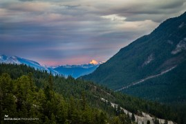 Banff-Lake Minnewanka scenic drive sunset-2