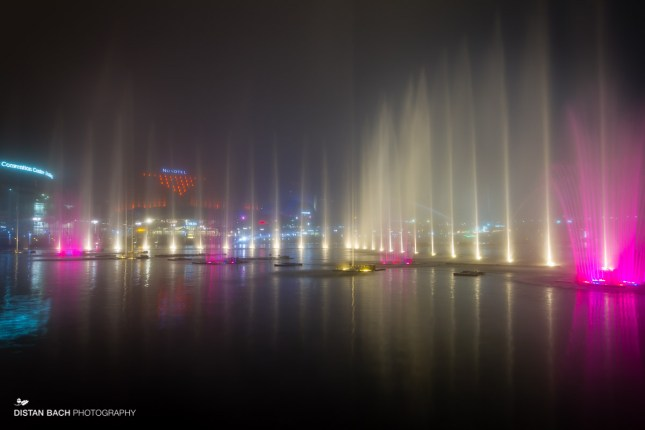 Foggy water show