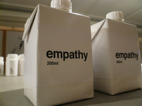 containers labeled with empathy