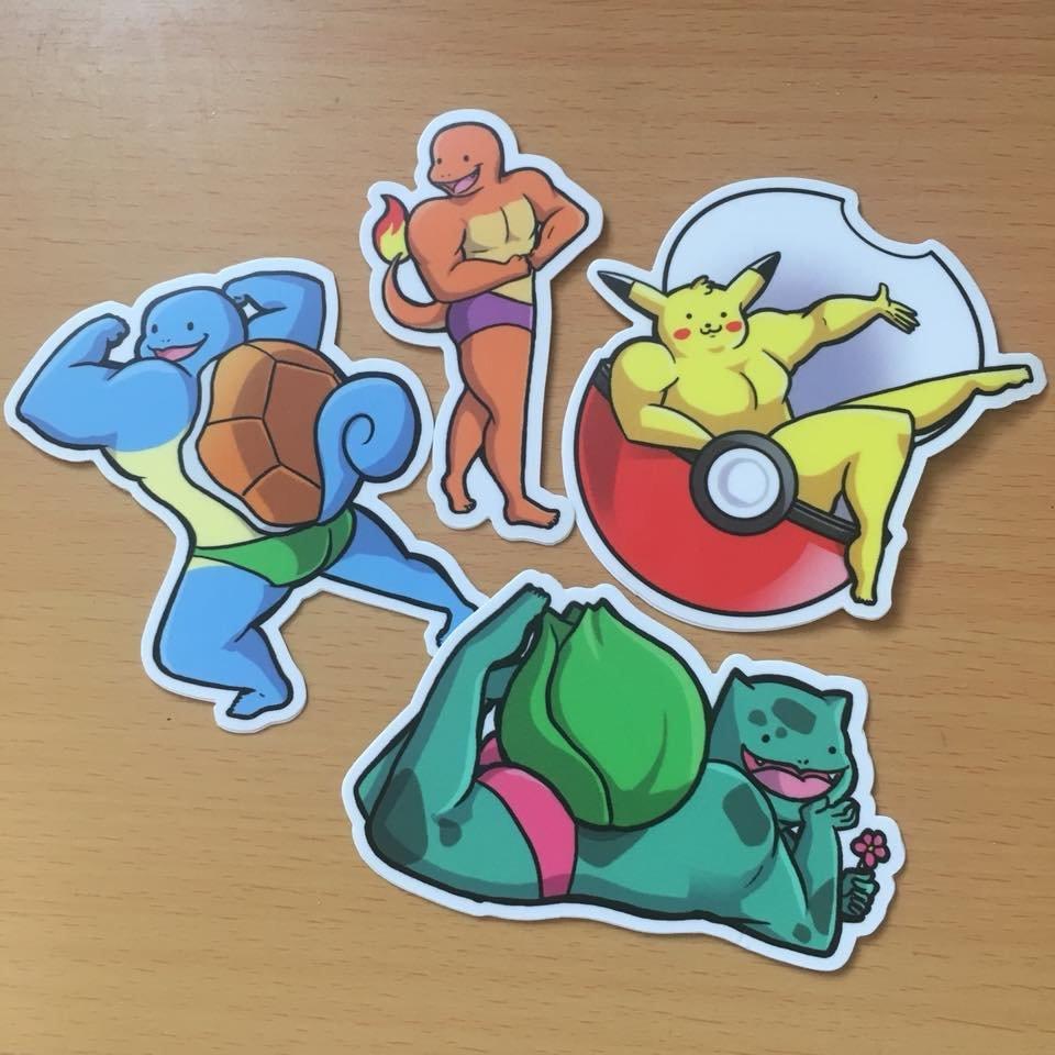 Buff Pokémon stickers