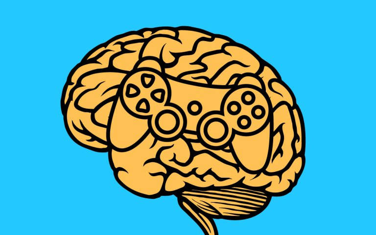 playstation controller in a brain