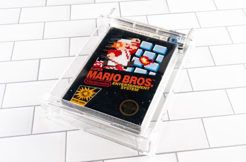 A sealed copy of Super Mario Bros