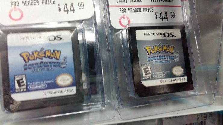 Fake and real Pokémon SoulSilver carts selling for $44.99