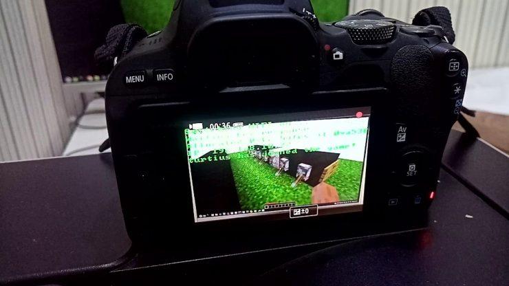 Minecraft on a DSLR