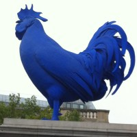 Goodbye from the Big Blue Chicken of London