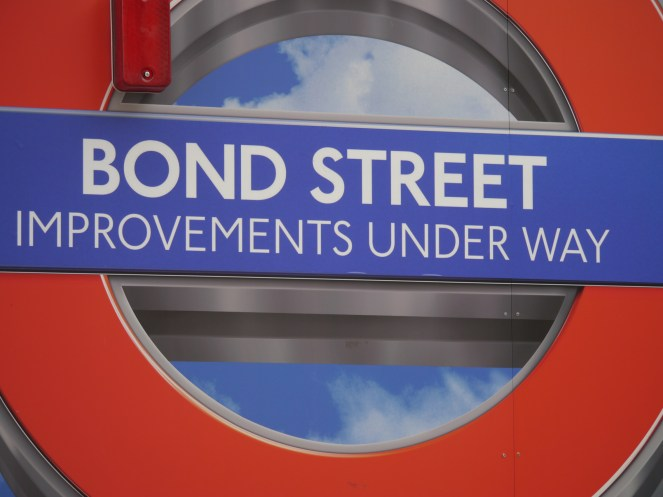 bond street improvements sign