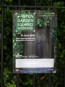 Poster for Open Garden Squares Weekend