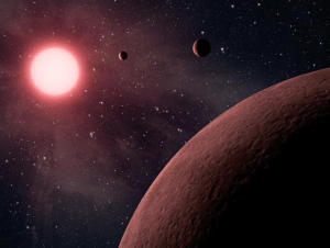 Artist's impression of planets around cool stars