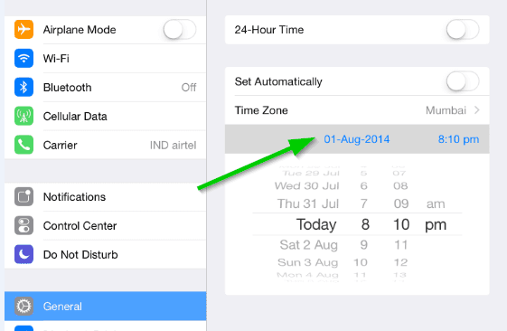 Change Date In iOS Moviebox